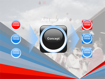 Graduation In Red Blue Colors PowerPoint Template Slide 17