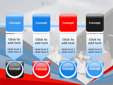 Graduation In Red Blue Colors PowerPoint Template Slide 18
