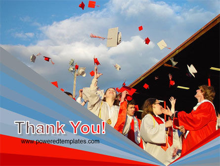 Graduation In Red Blue Colors PowerPoint Template Slide 20