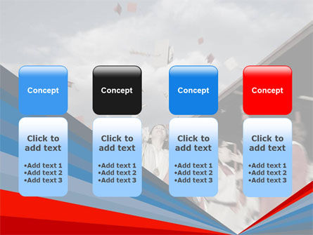 Graduation In Red Blue Colors PowerPoint Template Slide 5