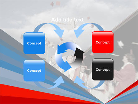 Graduation In Red Blue Colors PowerPoint Template Slide 6