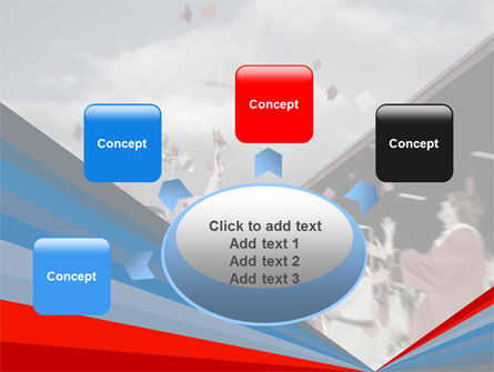 Graduation In Red Blue Colors PowerPoint Template Slide 7