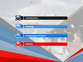 Graduation In Red Blue Colors PowerPoint Template#3