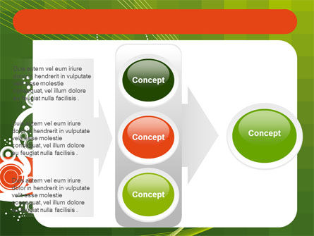 Green Background With White Vegetative Decor PowerPoint Template Slide 11