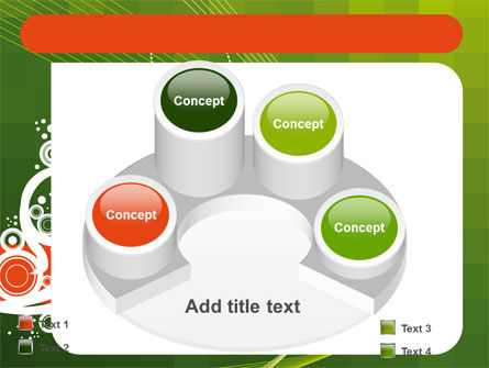 Green Background With White Vegetative Decor PowerPoint Template Slide 12