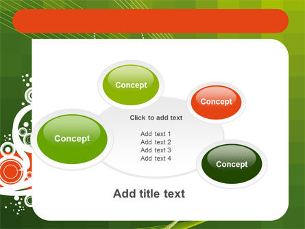 Green Background With White Vegetative Decor PowerPoint Template Slide 16