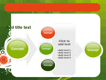 Green Background With White Vegetative Decor PowerPoint Template Slide 17