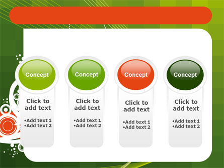 Green Background With White Vegetative Decor PowerPoint Template Slide 5