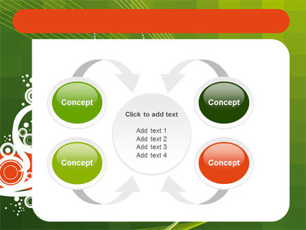 Green Background With White Vegetative Decor PowerPoint Template Slide 6