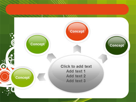 Green Background With White Vegetative Decor PowerPoint Template Slide 7