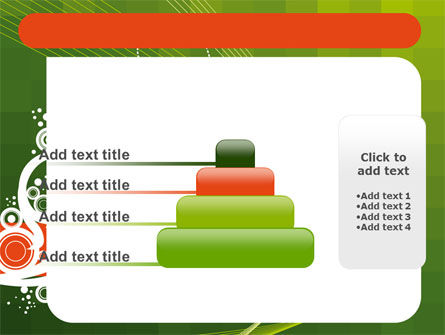 Green Background With White Vegetative Decor PowerPoint Template Slide 8