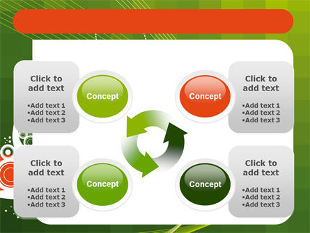 Green Background With White Vegetative Decor PowerPoint Template Slide 9