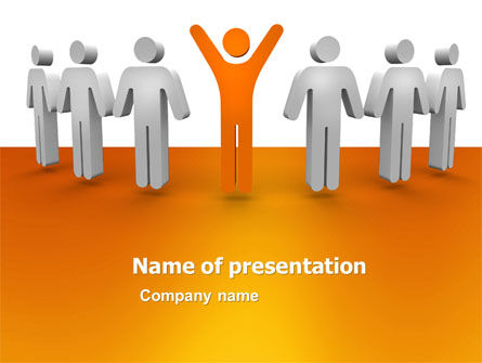 Careers/Industry: Plantilla de PowerPoint - ganador de orange #05622