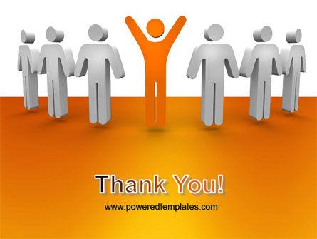 Orange Winner PowerPoint Template Slide 20