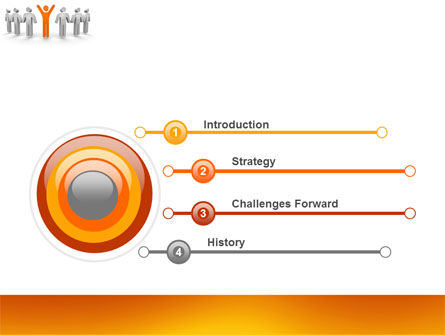 Orange Winner PowerPoint Template, Slide 3, 05622, Careers/Industry — PoweredTemplate.com