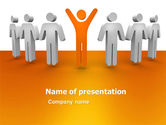 Careers/Industry: Orange Winner PowerPoint Template #05622