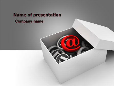 Email Shipping PowerPoint Template, 05624, Careers/Industry — PoweredTemplate.com
