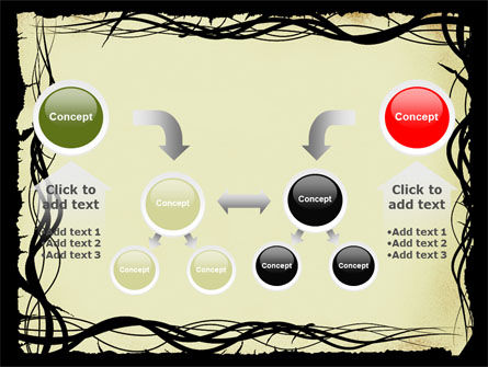 Open Flowers Pattern PowerPoint Template Slide 19