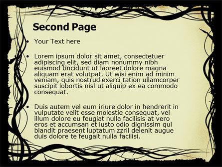 Open Flowers Pattern PowerPoint Template, Slide 2, 05625, Abstract/Textures — PoweredTemplate.com
