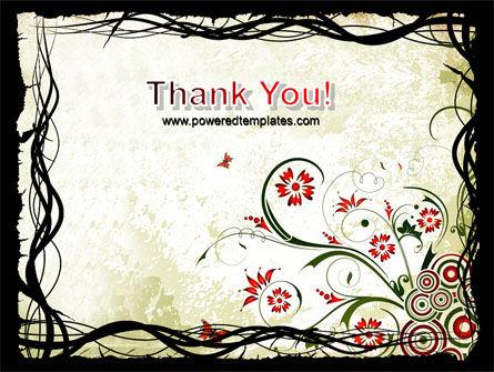 Open Flowers Pattern PowerPoint Template Slide 20