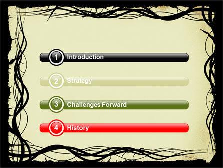 Open Flowers Pattern PowerPoint Template, Slide 3, 05625, Abstract/Textures — PoweredTemplate.com