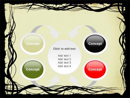 Open Flowers Pattern PowerPoint Template Slide 6