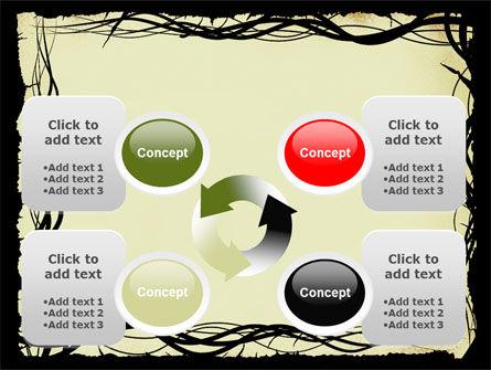 Open Flowers Pattern PowerPoint Template Slide 9