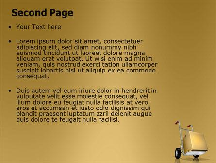 Handcart PowerPoint Template Slide 2