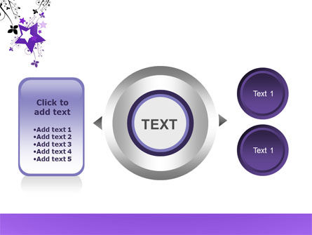 Violet Stars PowerPoint Template Slide 12