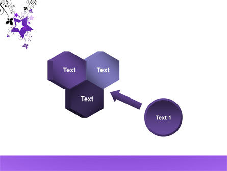 Violet Stars PowerPoint Template Slide 19