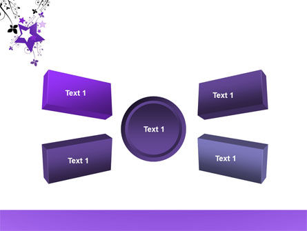 Violet Stars PowerPoint Template Slide 6