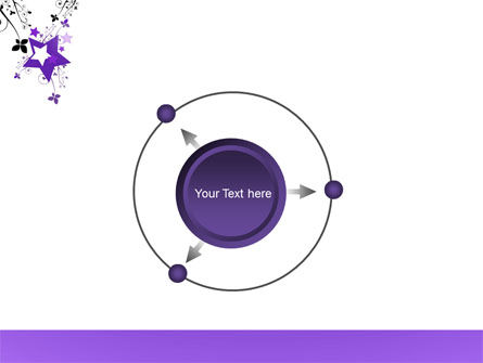 Violet Stars PowerPoint Template Slide 7