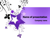 Abstract/Textures: Violet Stars PowerPoint Template #05630