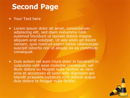 Traffic Cones PowerPoint Template Slide 2