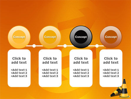 Traffic Cones PowerPoint Template Slide 5