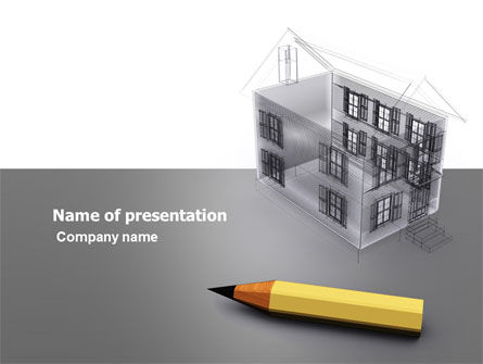 Draft PowerPoint Template, 05632, Construction — PoweredTemplate.com