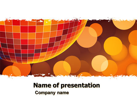 Art & Entertainment: Disco PowerPoint Template #05635