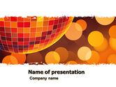 Art & Entertainment: Modèle PowerPoint de disco #05635