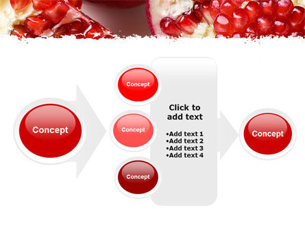 Pomegranate On A Green White Background PowerPoint Template Slide 17
