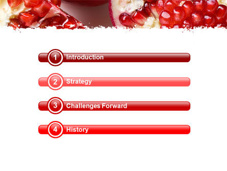 Pomegranate On A Green White Background PowerPoint Template, Slide 3, 05637, Agriculture — PoweredTemplate.com