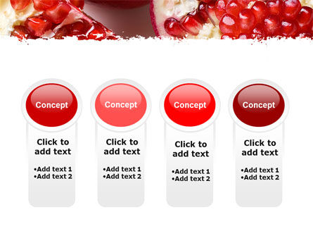 Pomegranate On A Green White Background PowerPoint Template Slide 5