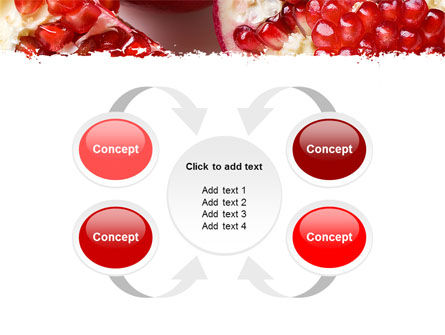 Pomegranate On A Green White Background PowerPoint Template Slide 6
