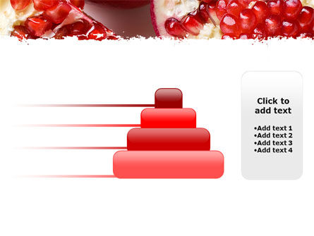 Pomegranate On A Green White Background PowerPoint Template Slide 8