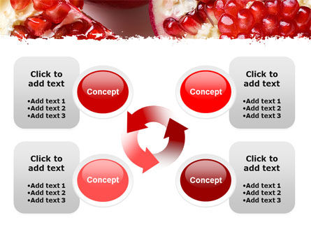 Pomegranate On A Green White Background PowerPoint Template Slide 9
