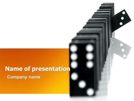 Consulting: Dominoes Falling Effect PowerPoint Template #05638