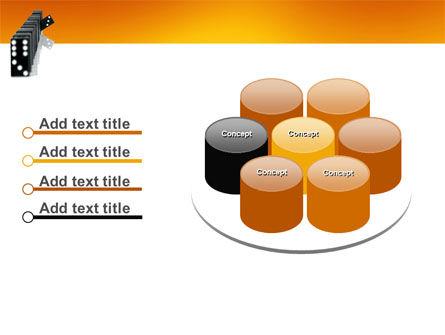 Dominoes Falling Effect PowerPoint Template Slide 12
