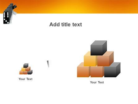 Dominoes Falling Effect PowerPoint Template Slide 13