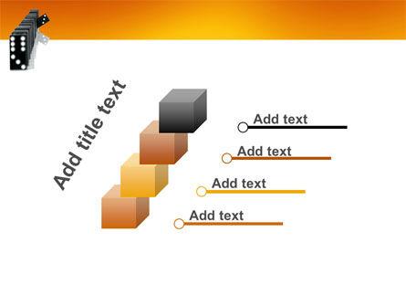 Dominoes Falling Effect PowerPoint Template Slide 14