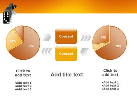 Dominoes Falling Effect PowerPoint Template Slide 16
