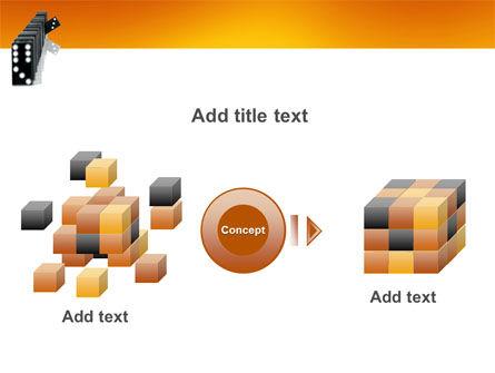 Dominoes Falling Effect PowerPoint Template Slide 17